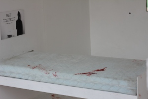 Blood on bed
