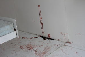 Blood on walls