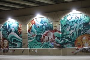 Mural under US 131